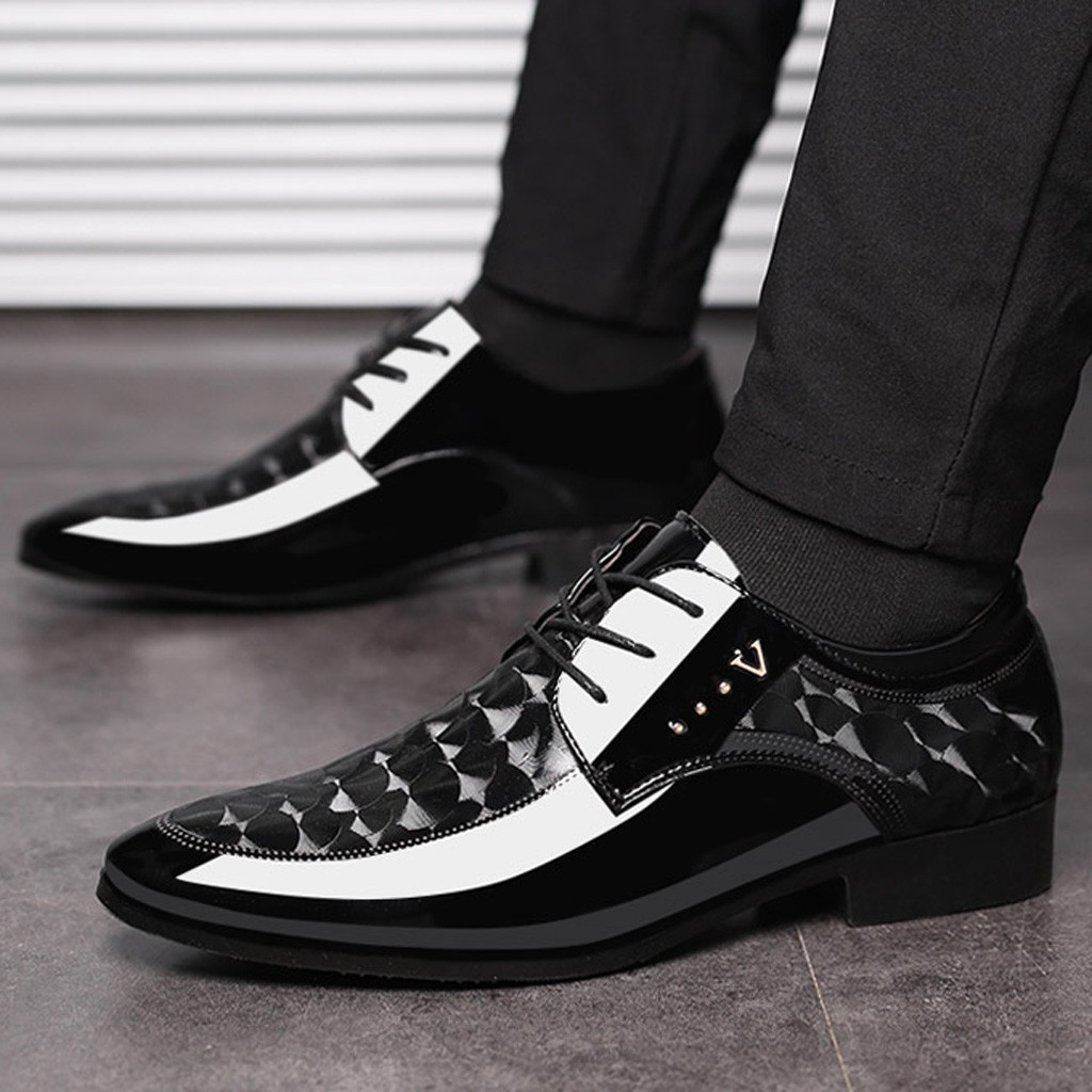 New Leather Shoes Men Breathable Formal Dress Shoes Luxury Business Oxford Male Office Wedding Flats Footwear Mocassin Homme 48