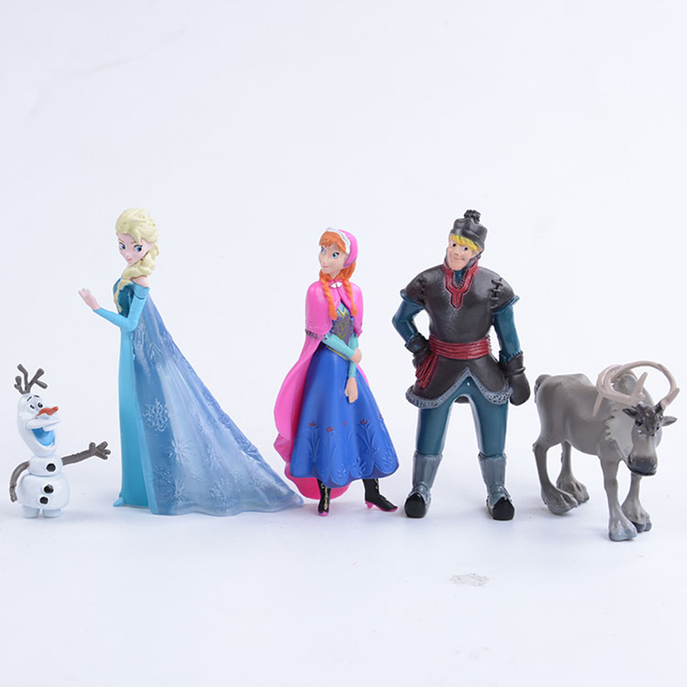 Disney Figures Princess 10cm Anime PVC Action Figure Kristoff Sven Olaf Frozen Birthday Toys For Children Christmas Gifts