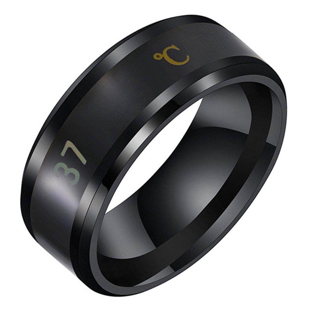 Multifunctional Waterproof Intelligent Smart Temperature Couple Ring Titanium Steel Finger Jewelry Fingertip Temperature Sense