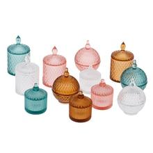 3PCS/SET 1:12 Dollhouse Miniature Mini Doll Accessories Toys Transparent Candy Fruit Jar Collectible Families Gift
