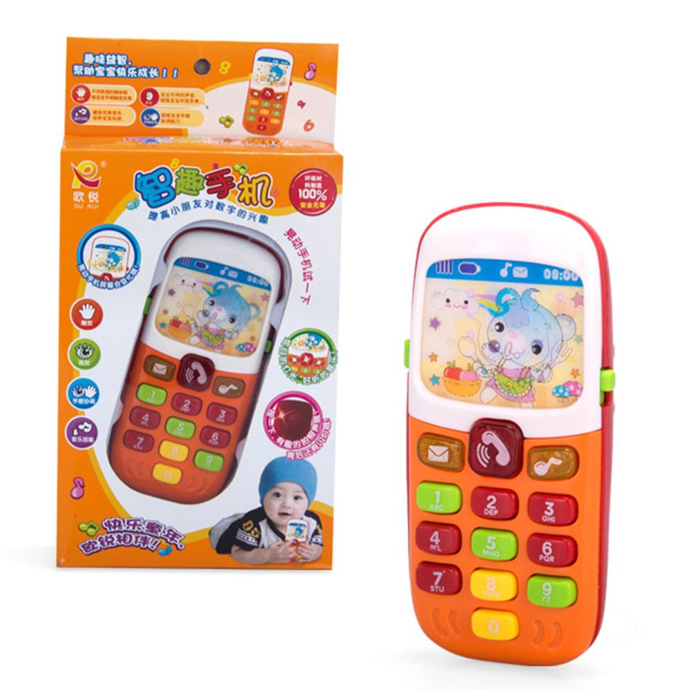 Realistic Baby Mobile Phone Toy Children Simulation Electronic Mobile Phone With Music LED Educational Kids Toy