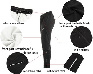 Image 4 - ARSUXEO Men Winter Cycling Jacket Set Windproof Waterproof Thermal Sportswear Bicycle Pants Trousers  Bike Suits Clothing 15FF