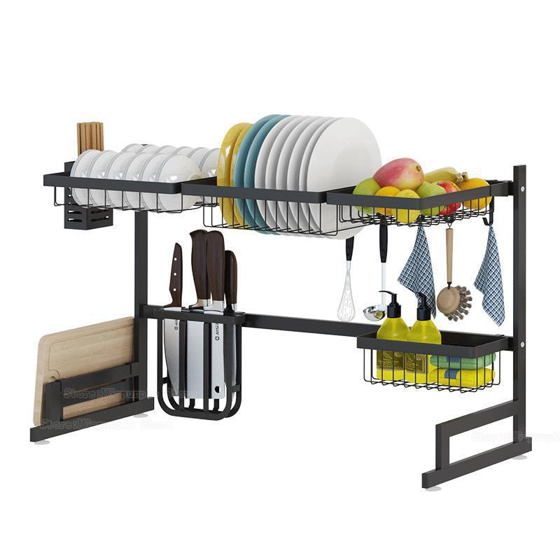 Edelstahl küche rack waschbecken dish rack ablauf dish rack küche utensilien speicher supplies