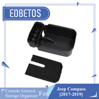 For Jeep Compass 2017 2019 Accessories Armrest Storage Box Container For Jeep Compass Accessories Center Conosle Organizer Tray|Stowing Tidying| |  -