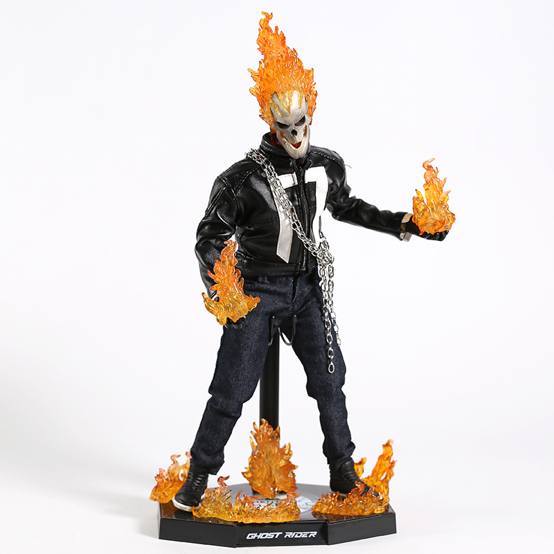 Agents of S.H.I.E.L.D. SHIELD Ghost Rider 1/6 Scale PVC Action Figure Collectible Model Toy with LED Light-in Action & Toy Figures from Toys & Hobbies    1