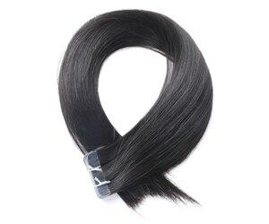 QHP волосы Remy человеческие волосы для наращивания 2 г/подставка 20 шт./упак. лента для наращивания волос