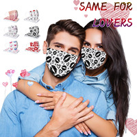 Headband 10/50/100PC masques scarf Face Mask Adult Valentine's Day Printing Breathable Disposable Three-layer Mask маска бандана