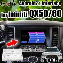 Android 7,1 видео интерфейс gps навигационная коробка для Infiniti QX50/60/70/80/Q70- с wifi waze mirroring CarPlay