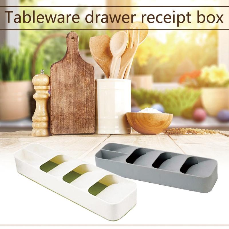 Kitchen Drawer Organizer Tray Spoon Cutlery Separation Finishing Save Space Long Service Life Easy Clean Storage Holder