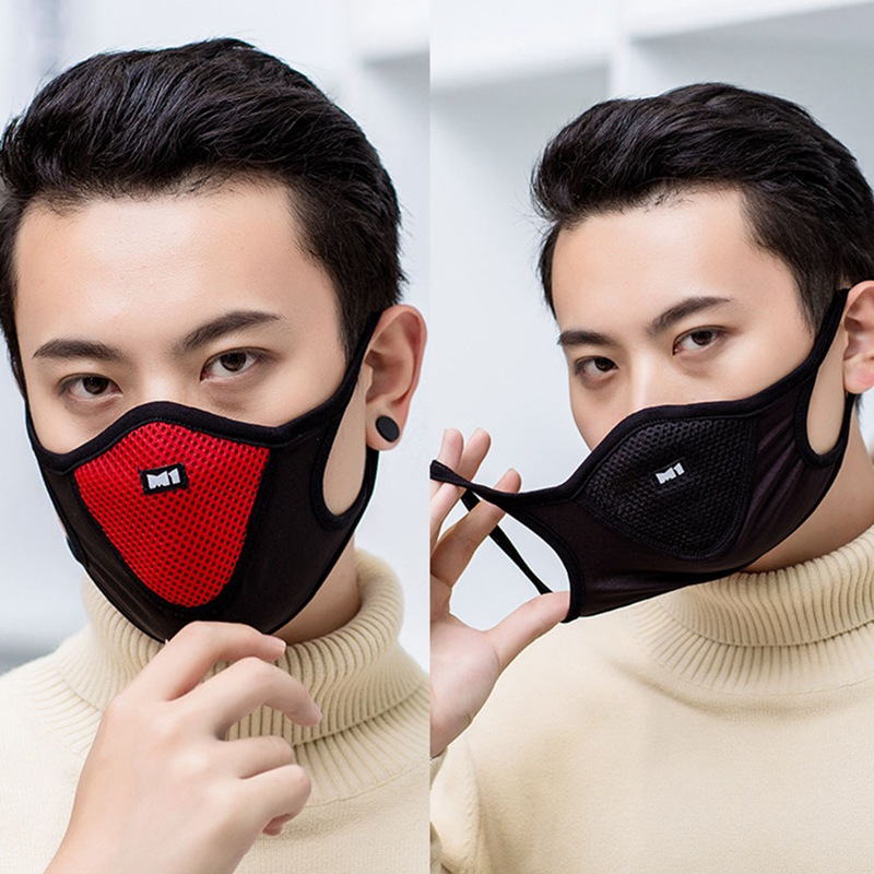 Anti Dust Mask Black Filter Outdoor Sports Anti-pollution Gas Anti Pollution Mask Dust Respirator Bicycle Dust Mask Motorcycle