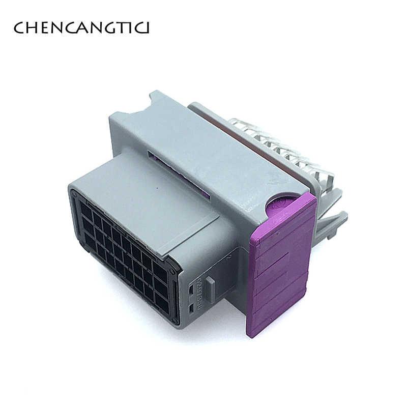 1 Set/pcs 24 Pin/Manier Ecu Automotive Plastic Behuizing Doos Geval Met 24 Pins Grijs Fci Auto Connectors