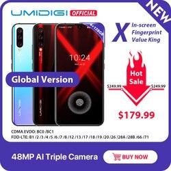 Глобальная версия смартфона UMIDIGI X, экран 6,35 дюйма AMOLED, тройная задняя камера 48 МП, 128 ГБ, NFC Helio P60, 4150 мАч