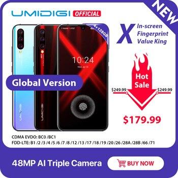 Version mondiale UMIDIGI X empreinte digitale 6.35