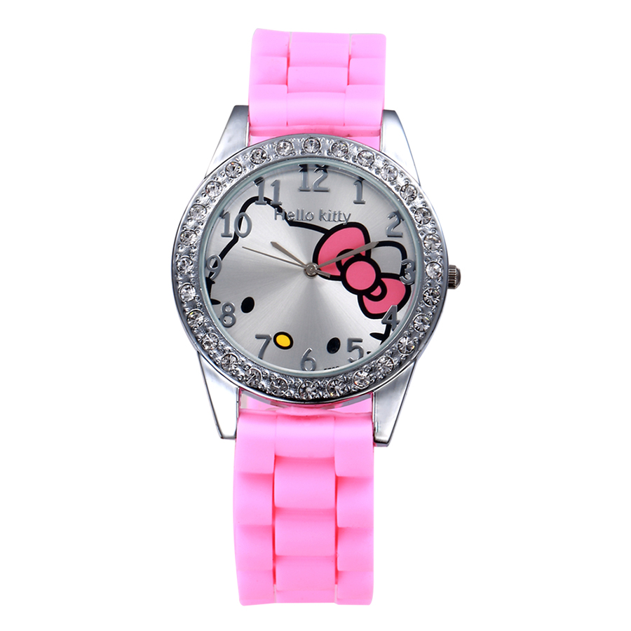 2019 Hello Kitty Women Watch Cute Cartoon Enfant Ceasuri Kid Quartz Wrist Watch Hodinky Relogio Silicone Cat Girl Women Saats