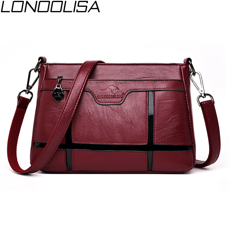 New Fashion Women Soft Leather Shoulder Bag High Quality Luxury Handbags Women Bags Designer Plaid Crossbody Bags For Women 2019