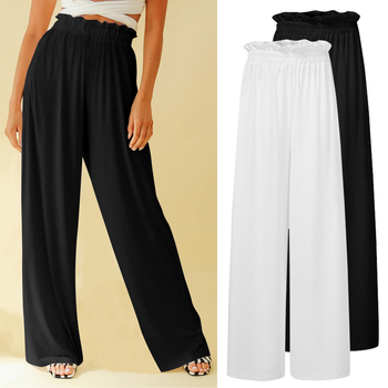 Celmia Oversized Vintage Wide Leg Long Pants Women Celmia Casual Elastic High Waist Trousers Plus Size 5XL Loose Pantalon 2020 фото