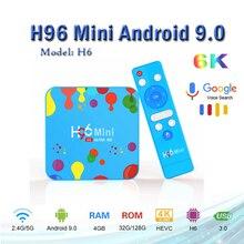 Best selling H96 Mini H6 Smart TV Box Android 9.0 4G 32GB/128G 6K HD H.265 Wifi 2.4G/5G H96 mini Media Player support iptv spain microcentrifuge mini 6k mini centrifuge 6000rpm economic
