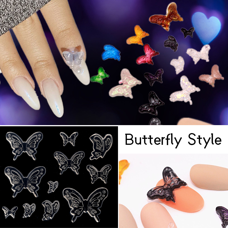 1 Pc Nail Art Silicone Mold Butterfly Pattern 3D Acrylic Carving Mold Nails Decoration Nail Art DIY Tools Accessories