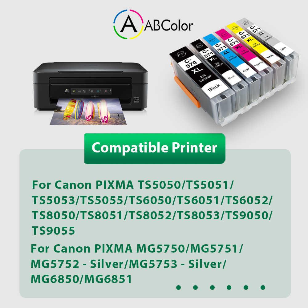 6PK PGI-570 CLI-571 Per Canon PGI-570 CLI-571 Cartuccia di Inchiostro 570 571xl Per Canon PIXMA TS5050 TS5051 TS5053 PIXMA Stampante MG5750