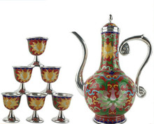 China silver city Ag999 Silver Products Hand made Top grade Cloisonne wine set Can be customized free shipping 8 90 teeth ncctec top grade 200mm alloy aluminum cutting blades nac89tg fast free shipping a thought can filled space