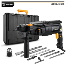 DEKO GJ181 220V 26mm AC Electric Rotary Hammer Four Functions with BMC Box, Accessories Impact Power Drill for Woodworking