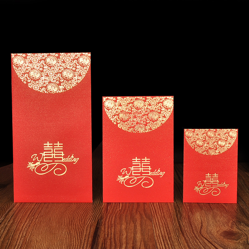 Wedding Supplies Marriage Red Packet Wedding Red Envelope Bronze Hundred Thousand Dollars Universal Pearly Lustre Creative Mini