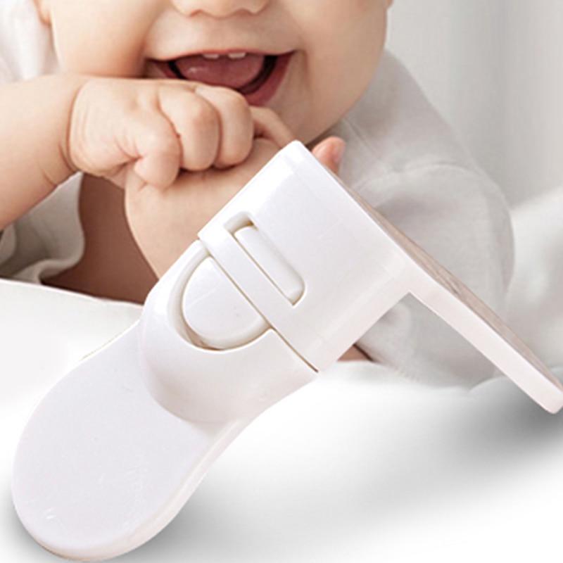 10 Pcs/Lot Drawer Door Cabinet Cupboard Closet Safety Locks Baby Kids Children Safety Care Plastic Locks Buckles Securite Enfant