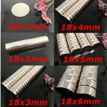 50/100/200 stücke 18x1 18x2 18x4mm Disc Super Starke Runde magnete Rare Earth Neo Neodym N35 Rund magnet Permanent magnet