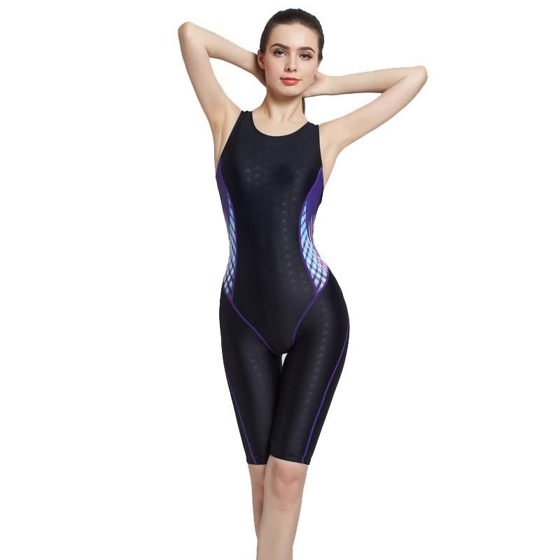 Swimsuit Training Sleeveless in Leg One-piece Swimsuit Womens Racing Swimsuit Womens Professional