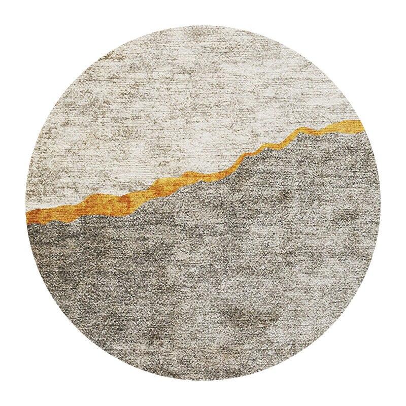 Современный абстрактный ковер для гостиной скандинавский круглый ковер нескользящий коврик для спальни коврик с геометрическим орнаментом защита пола для дома - Цвет: 4