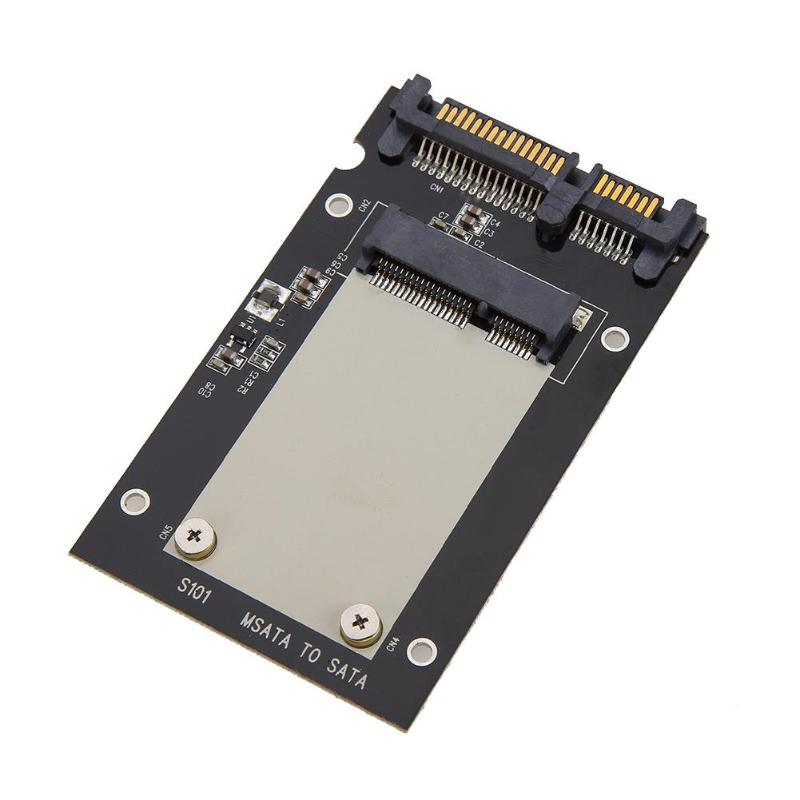Mini mSATA SSD to 2.5 inch SATA 22-Pin Converter Adapter Card For Windows2000/XP/7/8/10/Vista Linux Mac 10 OS image