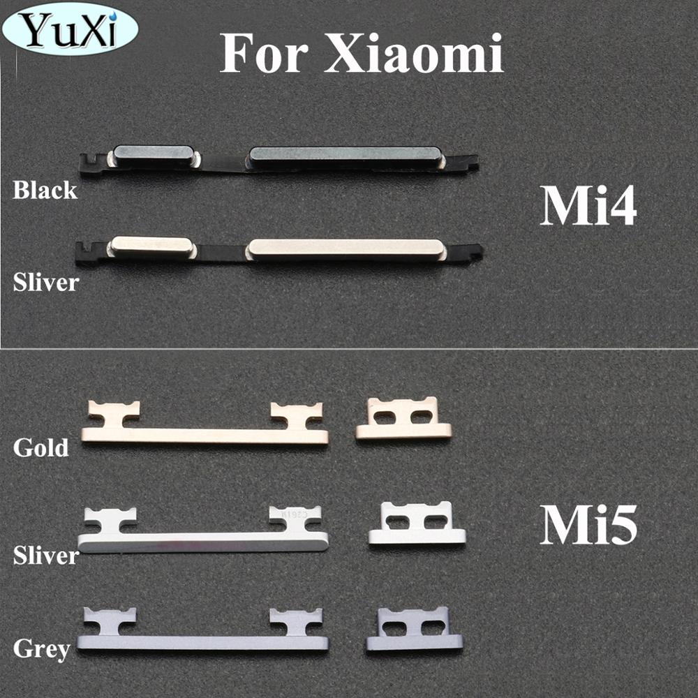 YuXi Side Keys for Xiaomi mi4 mi5 Power Button Volume Button For Xiaomi 4 5 Mobile Phone Replacement Parts