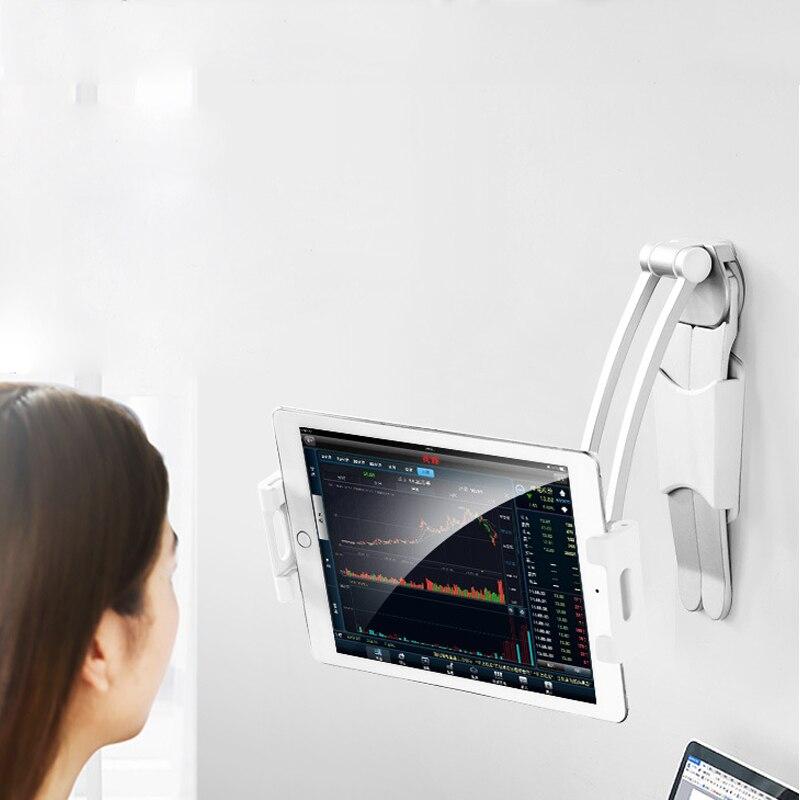 Universal Wall Desk Tablet Stand Digital Kitchen Mount Stand Fit 360° Rotating Tablet Metal Bracket Smartphones Holders