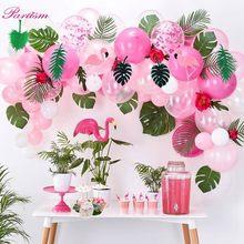 Guarda-chuva de papel para festas, conjunto com flamingo para bolo, abacaxi, decorações de aniversário, suprimentos para festa havaiana, verão, 1 conjunto