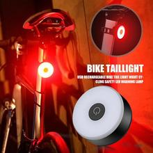 цена на Multi Lighting Modes Bicycle Light USB Rechargeable Bike Tail Light Night Cycling Safety LED Warning Lamp Cycling accessories