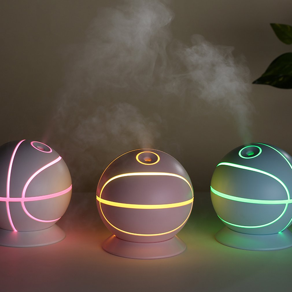 Mini USB 460ML Ultrasonic Basketball Humidifier Air Humidifier Aroma Essential Oil Diffuser Aromatherapy For Office SPA