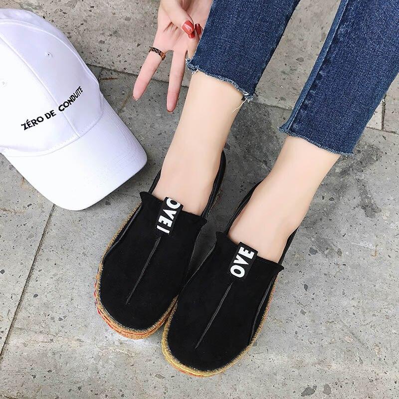 Big Size 8 Shallow loafers Women Wide Slip On Flats Shoes Walking Woman Anti Slip Driving Footwear Comfort Ladies zapatos mujer Women's Vulcanize Shoes  - AliExpress
