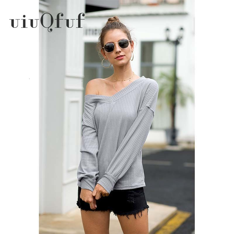 V-Neck Women Fashion Wool Knit Sweater Casual Solid Black Pullovers Long Sleeve Casual Office Basic Bottoming Pullovers Tops Swe