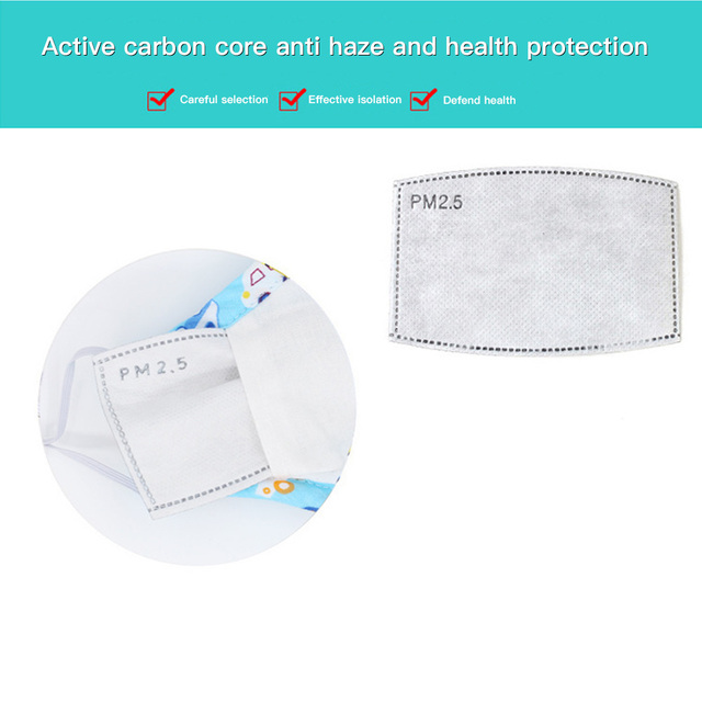 Washable Reusable Anti Air Pollution Face Mask & Respirator 2 Filter Kids boy Girl Cute Safety Masks Anti Flu Protective Mask 2