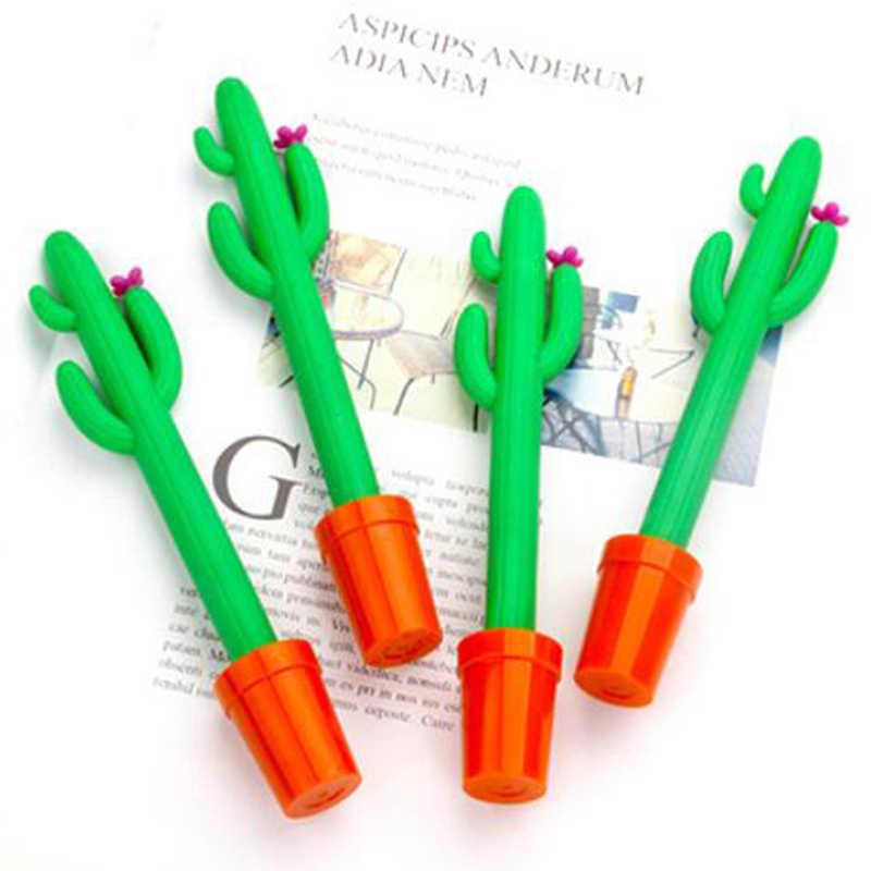 Gorąca sprzedaż 1Pc śliczne Kawaii kaktus roślina doniczkowa długopis żelowy biuro szkolne papiernicze