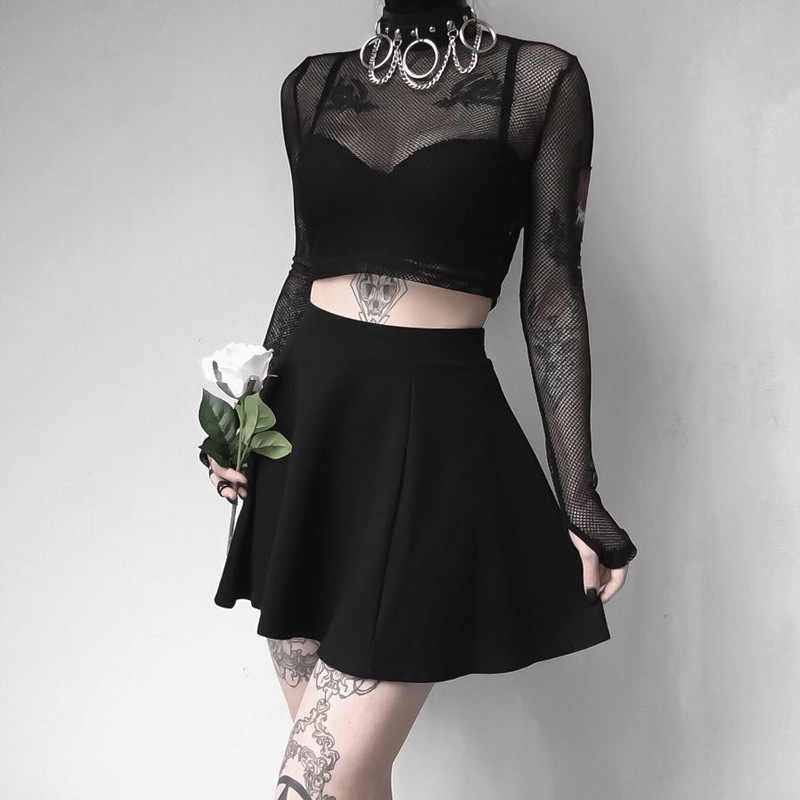 Punk Style Gothic Dark Wave Black Sexy Chocker Chain Necklace Women PU Leather Adjustable Collar Necklet Chaplet Metal Chain