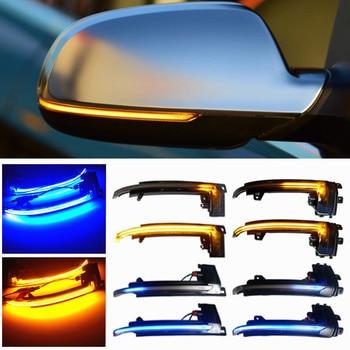 Intermitente LED dinámico para espejo lateral de coche, marcador de giro para Audi A3, 8P, A4, A5, B8, Q3, A6, S6, SQ3, A8, D3, 8K