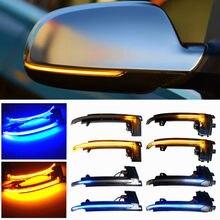 Rolagem led dinâmico turn signal light espelho lateral piscando luz repetidor blinker para audi a3 8p a4 a5 b8 q3 a6 s6 sq3 a8 d3 8k