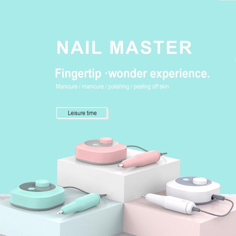 inteligente eletrica maquina de broca do prego velocidade ajustavel prego moagem manicure polones prego arquivo pedicure