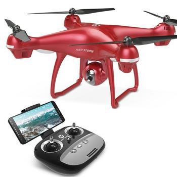 Holy Stone HS100 Red RC Drone GPS Profesional FPV WIFI Camera HD 1080P Selfie RC Quadcopter GPS Drones 500m Quadrocopter Gimbal дрон jjrc x9 heron с камерой hd 1080p wifi gps