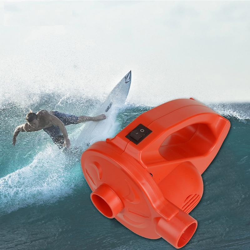 Lithium Battery Rechargeable Air Pump Portable Electric Inflator For Air Bed Boat Compression Bag Orange
