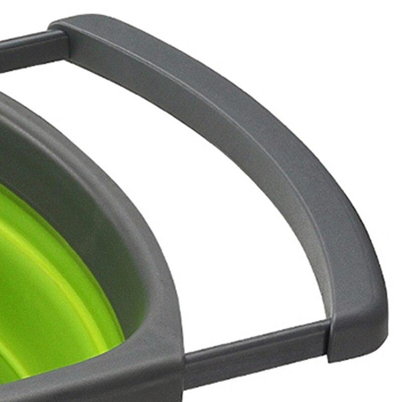 Cozinha colanders dobrável sobre pia retrátil filtro
