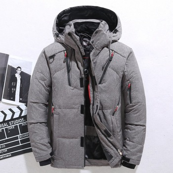 Down Jacket Male Winter Parkas Men -20 Degree White Duck Down Jacket Hooded Outdoor Thick Warm Padded Snow Coat Oversized M-4XL
