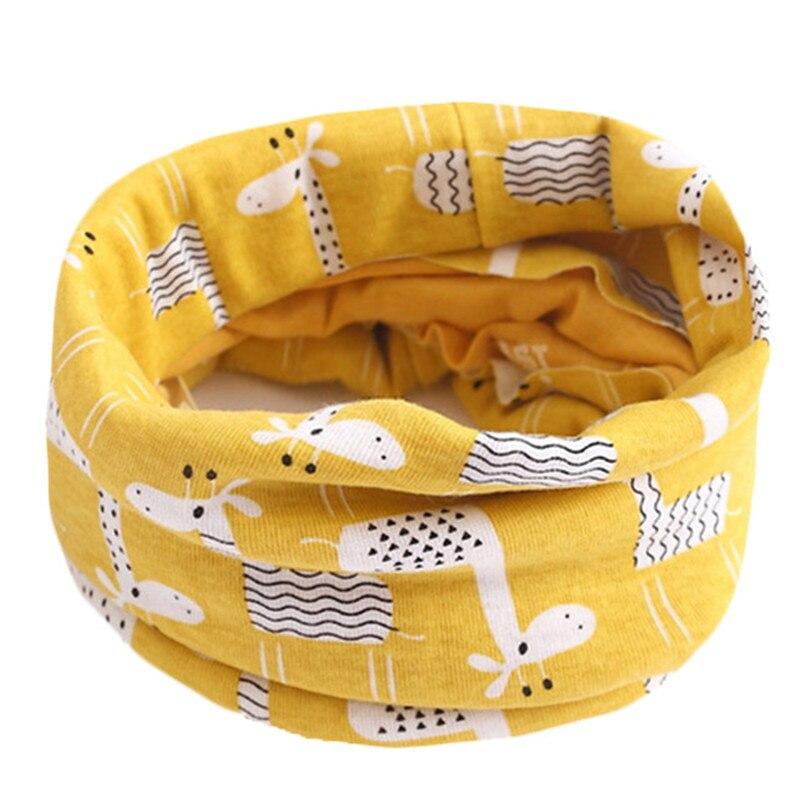 Весенний детский хлопковый шарф, теплый шарф для маленьких детей, осенне-зимние шарфы с героями мультфильмов для мальчиков и девочек, детский воротник с круглым вырезом, волшебный шейный платок - Цвет: 61