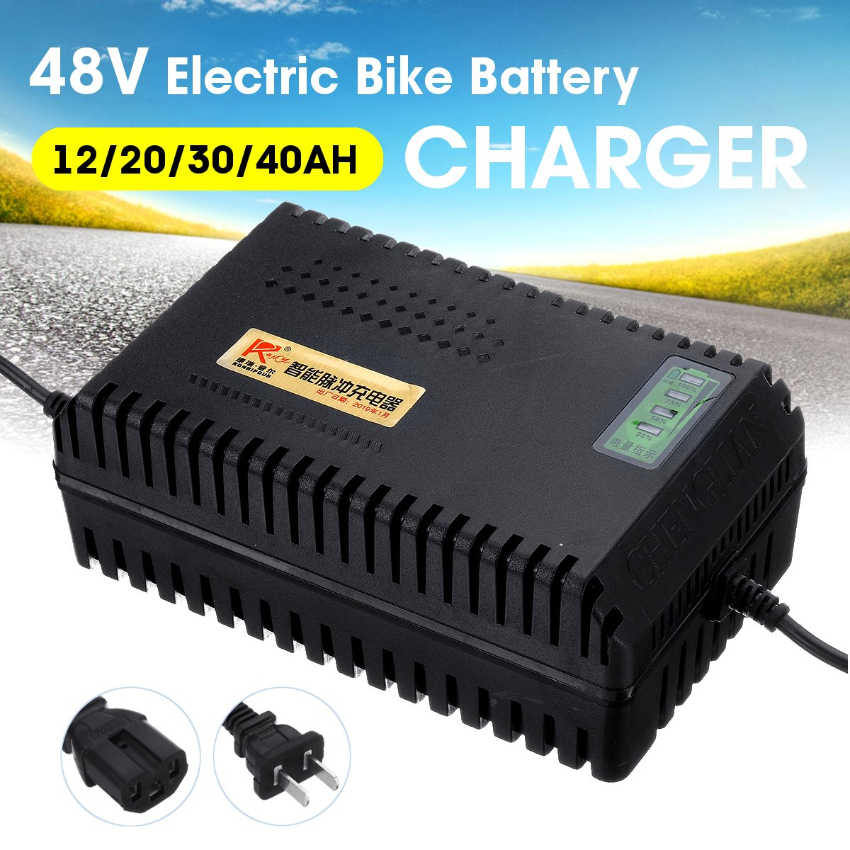 Lead-Acid-Battery-Charger Chargers Scooter Bike Electric-Bike for 48V 30ah/40ah title=
